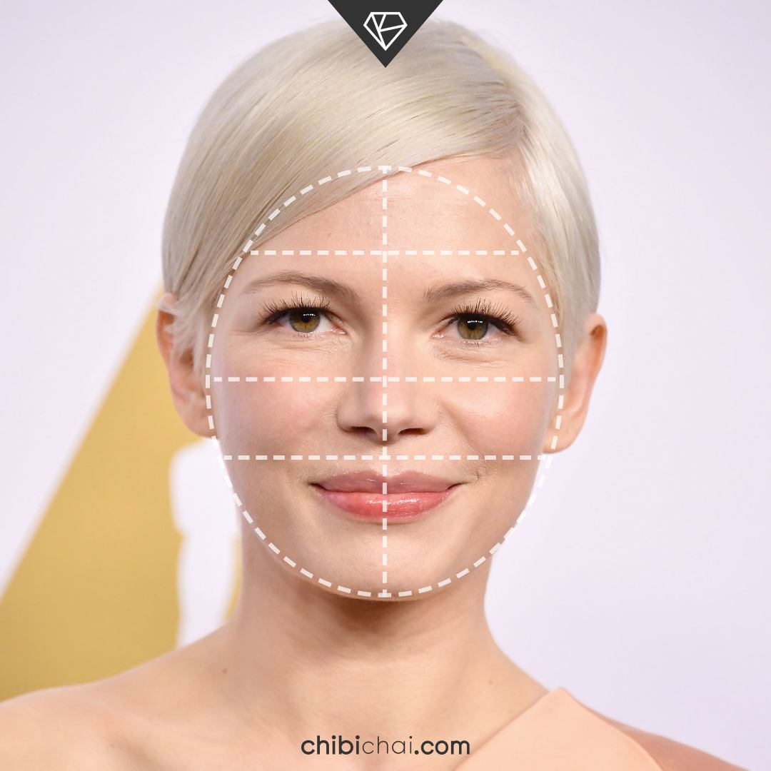 rostro redondo cara redonda Michelle Williams