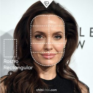rostro rectangular cara rectangular Angelina Jolie