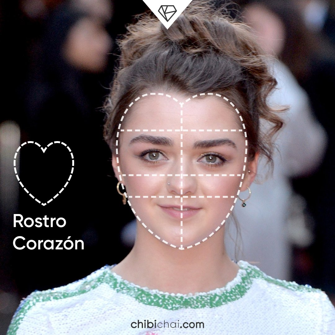 rostro corazon cara de corazon Maisie Williams